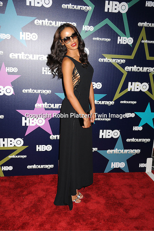 "Selita Ebanks attending The Eighth and Final Season Premiere of the HBO Show ""Entourage"" on July 19, 2011 at The Beacon Theatre in New York City."
