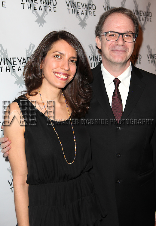 Sarah Stern, Douglas Aibel attending the Vineyard Theatre's 30th Anniversary Gala Celebration Cocktail Reception at the Edison Ballroom in New York City on 3/18/2013