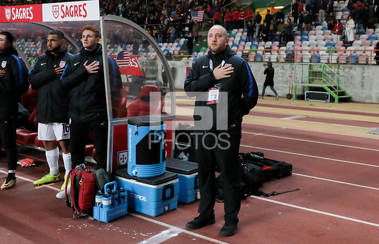 Leiria, Portugal - Tuesday November 14, 2017: Jeff Crandall during an International friendly match between the United States (USA) and Portugal (POR) at Estádio Dr. Magalhães Pessoa.