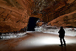 Nighttime shot from the Apostle Islands Ice Caves.