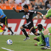 DC United midfielder Andy Najar (14).  Seattle Sounders defeated DC United 1-0 at RFK Stadium, Thursday July 15, 2010.