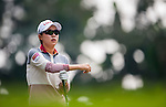 Hyo-Joo Kim of Korea looks on during the Hyundai China Ladies Open 2014 on December 10 2014 at Mission Hills Shenzhen, in Shenzhen, China. Photo by Xaume Olleros / Power Sport Images