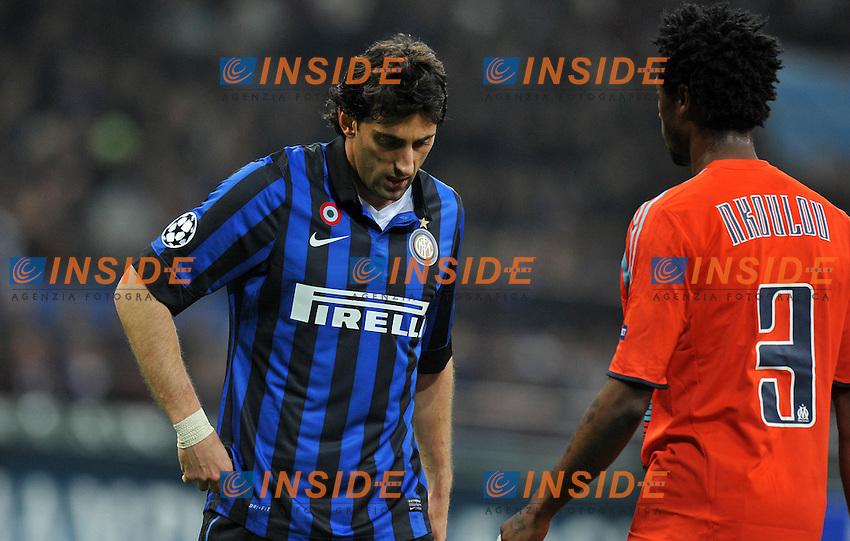 "Diego MILITO (Inter).Milano 13/03/2012 Stadio ""Giuseppe Meazza"".Champions League 2011/2012.Football Calcio Inter Vs Olympique Marsiglia.Foto Insidefoto Alessandro Sabattini."