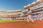 22 August 2015: Milwaukee Brewers outfielder Shane Peterson stands ready to start play against the Washington Nationals at Nationals Park in Washington, DC. The Nationals defeated the Brewers 6-1 in the second game of their 3-game weekend series. Mandatory Credit: Ed Wolfstein Photo *** RAW (NEF) Image File Available ***