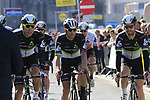 Team Dimension Data make their way to sign on before the start of Gent-Wevelgem in Flanders Fields 2017, running 249km from Denieze to Wevelgem, Flanders, Belgium. 26th March 2017.<br /> Picture: Eoin Clarke | Cyclefile<br /> <br /> <br /> All photos usage must carry mandatory copyright credit (&copy; Cyclefile | Eoin Clarke)