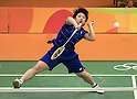Akane Yamaguchi (JPN), AUGUST 12, 2016 - Badminton : Akane Yamaguchi of Japan in action during the Rio 2016 Olympic Gamges Badminton Women's Singles Group K match at Riocentro Pavilion 4 in Rio de Janeiro, Brazil. (Photo by Enrico Calderoni/AFLO SPORT)