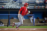 Williamsport Crosscutters designated hitter Mark Laird (7) at bat during a game against the Batavia Muckdogs on August 29, 2015 at Dwyer Stadium in Batavia, New York.  Williamsport defeated Batavia 7-3.  (Mike Janes/Four Seam Images)