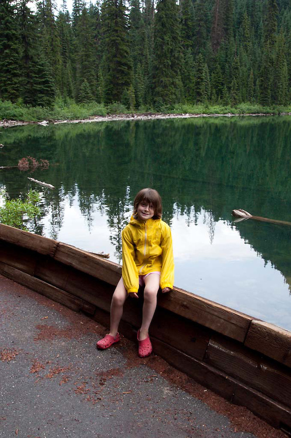 Eliza at Rainy Lake, North Cascades National Park, Washington, US