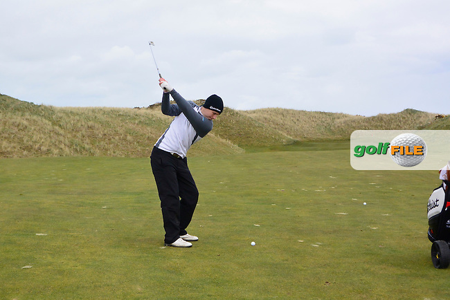 Jack Walsh (Maynooth) during round two at the Irish Intervarsity Championship from the European Club, Brittas Bay, Wicklow, Ireland. <br /> Picture: Fran Caffrey / Golffile