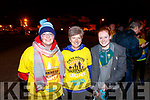 Karen Williams with Josie and Maeve Dalton, all from Tralee, pictured at the Darkness Into Light walk, Tralee, on Saturday last.