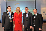 IHF-REPRO FREE IHF Conference Killarney: .Michael Vaughan, President, IHF, Miriam O'Callaghan, Chairman, Tim Fenn, CEO, IHF and Brian Maher, Coca-Cola pictured at the IHF 75th anniversary conference in The Malton Hotel, Killarney on Tuesday..Picture by Don MacMonagle