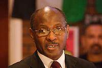 Kwame Akuffo Chair Ealing Racial Council speaking at the Memorial Meeting honouring Godfrey Cremer's life, Saklatvala Hall, Southall, 12th May 2012