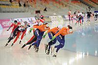 SPEEDSKATING: SOCHI: Adler Arena, 21-03-2013, Training, Lotte van Beek (NED), Marrit Leenstra (NED), Marije Joling (NED), © Martin de Jong