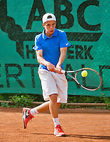 August 4, 2014, Netherlands, Dordrecht, TC Dash 35, Tennis, National Junior Championships, NJK,  Bram Bruisse (NED)<br /> Photo: Tennisimages/Henk Koster