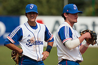 19 August 2010: Maxime Lefevre of Team France is seen next to Jorge Hereaud during France 7-6 win over Slovakia, at the 2010 European Championship, under 21, in Brno, Czech Republic.