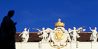 Austria, Vienna, Emperor's Crown + Habsburgs coat of arms + memorial of Emperor Franz I.