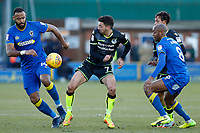 Liam Sercombe of Bristol Rovers during the Sky Bet League 1 match between AFC Wimbledon and Bristol Rovers at the Cherry Red Records Stadium, Kingston, England on 17 February 2018. Photo by Carlton Myrie.