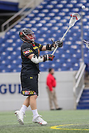 Annapolis, MD - February 11, 2017: Maryland Terrapins Matt Rambo (1) makes a pass during game between Maryland vs Navy at  Navy-Marine Corps Memorial Stadium in Annapolis, MD.   (Photo by Elliott Brown/Media Images International)