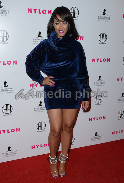 09 February  - Hollywood, Ca - Malaysia Pargo. Arrivals for the NYLON Magazine Pre-Grammy Party held at No Vacancy. Photo Credit: Birdie Thompson/AdMedia