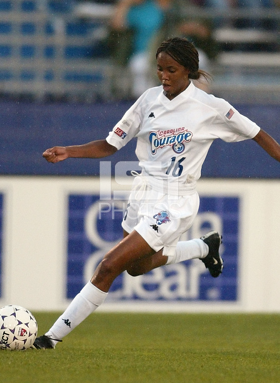 Venus James of the Carolina Courage during a June 26th 3-2 victory over the New York Power at Mitchel Athletic Complex.