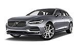 Stock pictures of low aggressive front three quarter view of 2017 Volvo V90 Inscription 5 Door Wagon Low Aggressive