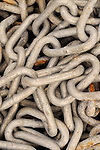 Chain links in a pile