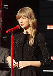 """Taylor Swift performing on """"Good Morning America"""" outside the ABC Times Square Studio in New York, 23.10.2012. ..Credit: Rolf Mueller/face to face"""