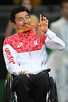 Takeshi Syoji (JPN), <br /> SEPTEMBER 18, 2016 - WheelChair Rugby : <br /> Medal Ceremony <br /> at Carioca Arena 1<br /> during the Rio 2016 Paralympic Games in Rio de Janeiro, Brazil.<br /> (Photo by AFLO SPORT)