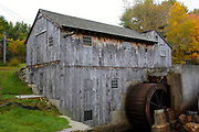 "Taylor Sawmill State Historic Site on Ballard Pond in Derry, New Hampshire USA. This sawmill is one of the few functional ""up and down"" sawmills."