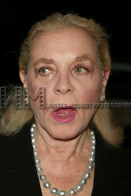 Lauren Bacall.Attending the Opening Night Performance of the Manhattan Theatre Cub Production of .ABSURD PERSON SINGULAR at the Biltmore Theatre in New York City..October 18, 2005.© Walter McBride /