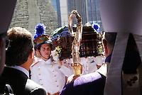 RIO DE JANEIRO 10 DE JULHO 2012 - VELORIO DO CARDEAL DON EUGENIO SALES, ARCEBISPO EMERITO DO RIO DE JANEIRO.<br /> Nesta terça feira (10), foi realizado o cortejo da chegada do corpo e velório do Cardel Don Eugenio Sales, Arcepispo Emérito da Arquidiocese do Rio de janeiro-RJ.<br /> O velório esta acontecendo na Catedral Sebastiao no Centro do Rio de Janeiro.<br /> Esteve presente o governador do Rio sergio Cabral e do prefeito da cidade do Rio Eduardo Paes e do arcebispo atual Don Elano Tempesta.<br /> FOTO RONALDO BRANDAO/BRAZIL PHOTO PRESS<br /> Governador do Estado do Rio de Janeiro Sergio Cabral