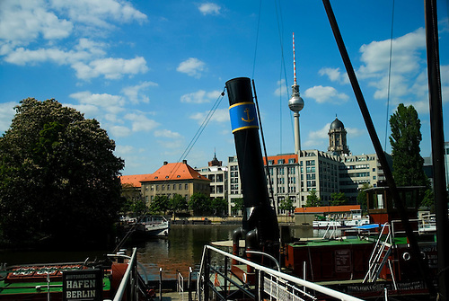 Fernsehturm from Mrkisches Museum Berlin Germany