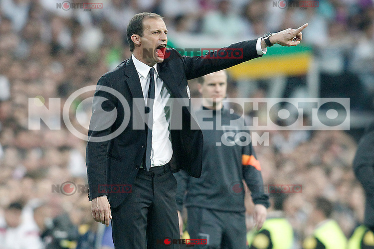 Juventus' coach Massimiliano Allegri during Champions League 2014/2015 Semi-finals 2nd leg match.May 13,2015. (ALTERPHOTOS/Acero) /NortePhoto.COM