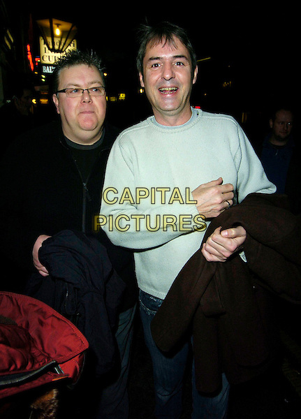 "NEIL MORISSEY & GUEST.""Guys & Dolls"" VIP Performance, Picadilly Theatre, London, UK..January 24th, 2007.half length beige sweater jumper Morrissey .CAP/CAN.©Can Nguyen/Capital Pictures"