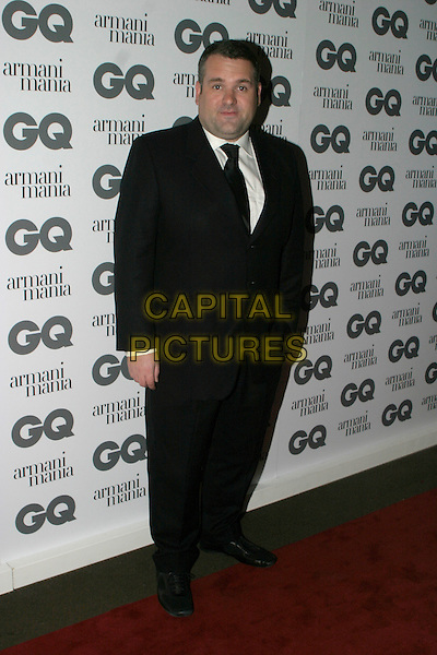 CHRIS MOYLES.The 8th Anual GQ Men of The Year Awards,.The Royal Opera House,.London, 6th September 2005.full length black suit white shirt.www.capitalpictures.com.sales@capitalpictures.com.© Capital Pictures.