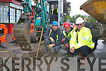 Laying the broadband lines outside the International Hotel Killarney last Wednesday morning were l-r Ger Lynch, Paul Qomocsa, Paudie O'Shea and Hugh O'Neill