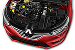 Car Stock 2016 Renault Megane-Grandtour Bose-Edition 5 Door wagon Engine  high angle detail view
