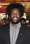 Questlove.attending the opening night of the Broadway limited engagement of 'Fela!' at the Al Hirschfeld Theatre on July 12, 2012 in New York City.