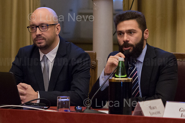 (From L to R) Luca di Francesco &amp; Diego Ierna (Job4Good).<br /> <br /> Rome, 15/12/2017. Today, the Chamber of the Deputies of the Italian Republic held the 6th annual Conference: &quot;La tecnologia che migliora la vita delle persone - Tecnologia Solidale 2017&quot; (The technology which improves people's lives - Assistive Technology 2017). The event, held in the &quot;Sala Aldo Moro&quot;, was hosted by Antonio Palmieri MP (Forza Italia Party - Member of the &quot;Intergruppo innovazione&quot;), Simone Baldelli MP (Forza Italia Party, Vice-president of the Chamber of Deputies), Giovanni Iozzia (Director of Economyup.it) and Stefano Epifani (Professor of Internet &amp; Social Media Studies at Universit&agrave; La Sapienza di Roma, fondatore di Tech Economy, Presidente Digital Transformation Institute &amp; UN advisor). Guests of the event were: Paola Cavallero (Director of Marketing &amp; Operations Microsoft Italy), Franco Bernardi (ASPHI), Bruno Calchera (CSR Oggi), Enrico Capiozzo (VEASYT), Lorenzo Di Ciaccio (Pedius), Francesca Fedeli (Fight the stroke), Mary Franzese (Neuron Guard), Alberto Giannini (Portale della Salute), Marco Iannacone (EdiTouch), Diego Ierna &amp; Luca di Francesco (Job4Good), Francesco Menegoni (GLIfe Company), Gianluca Ricci (Cuore Digitale), Luca Spaziani (DigitAbili), Mario Vigentini (Mario's way). From the organisers event page: &lt;&lt;We present our initiatives, perspectives and goals for 2018, and we will discuss the creation of an ecosystem that holds together startups, businesses, initiatives, companies that use technology to improve people's lives. And then, what to ask politics to be properly open to innovation?&gt;&gt;<br /> <br /> For more info please click here: http://bit.ly/2kS6JfS<br /> <br /> For a video of the event please click here: http://webtv.camera.it/evento/12370