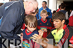 The Munster teams visit to Tralee Rugby club for an open training session which ran in conjunction with the Munster Rugby Summer Camp. Pictured is Donncha O'Callaghan signing autographs at at Tralee Rugby Club on Friday.