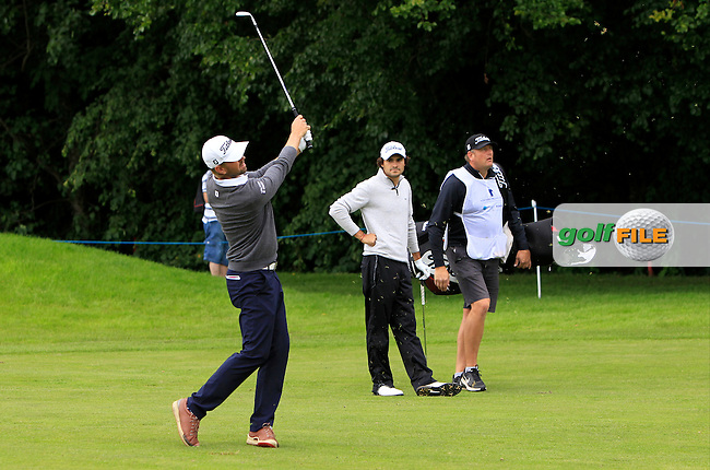 Birgir Hafthorsson (ISL) on the 15th fairway during Round 2 of the Northern Ireland Open in Association with Sphere Global &amp; Ulster Bank at Galgorm Castle Golf Club on Friday 7th August 2015.<br />