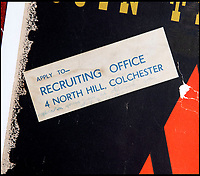 BNPS.co.uk (01202 558833)<br /> Pic: Onslows/BNPS<br /> <br /> This sticker shows this poster was one of the original one's put on display at a recruiting office before being withdrawn.<br /> <br /> Rare survivor - WW2 'Blonde Bombshell' poster that was banned for being to glamorous emerges.<br /> <br /> A rare copy of a controversial wartime poster for the women's ATS that had to be pulped following complaints by a feminist MP has come to light.<br /> <br /> The poster aimed at getting women to join the Auxiliary Territorial Army was produced in 1941 by renowned graphic designer Abraham Games.<br /> <br /> He deliberately glamourised the service by turning brunette model Doreen Murphy into a blonde, giving her red lipstick and putting her cap at a 'sexy' angle.<br /> <br /> Games' aim was to appeal to younger women but his 'blonde bombshell' poster drew complaints.<br /> <br /> Some 10,000 copies were destroyed but one that has survived has emerged for sale in Dorset for £5,000.