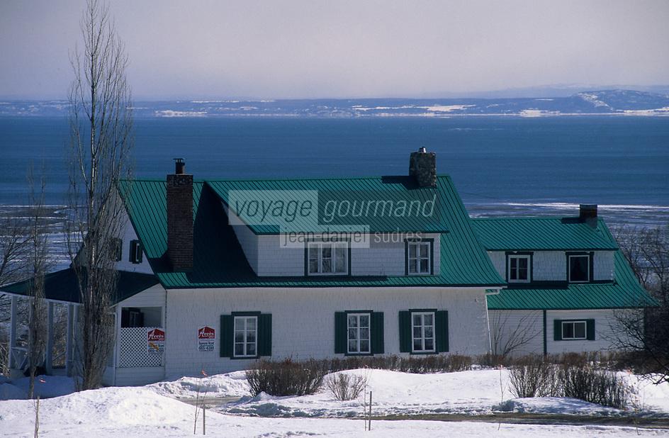 Amérique/Amérique du Nord/Canada/Quebec/Malbaie : Maison sur les rives du Saint-Laurent