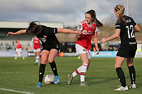 Lisa Evans of Arsenal and Carla Humphrey of Bristol City during Arsenal Women vs Bristol City Women, Barclays FA Women's Super League Football at Meadow Park on 1st December 2019