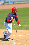 18 March 2006: Damian Jackson, infielder for the Washington Nationals, at bat during a Spring Training game against the New York Mets at Space Coast Stadium, in Viera, Florida. The Nationals defeated the Mets 10-2 in Grapefruit League play...Mandatory Photo Credit: Ed Wolfstein Photo..