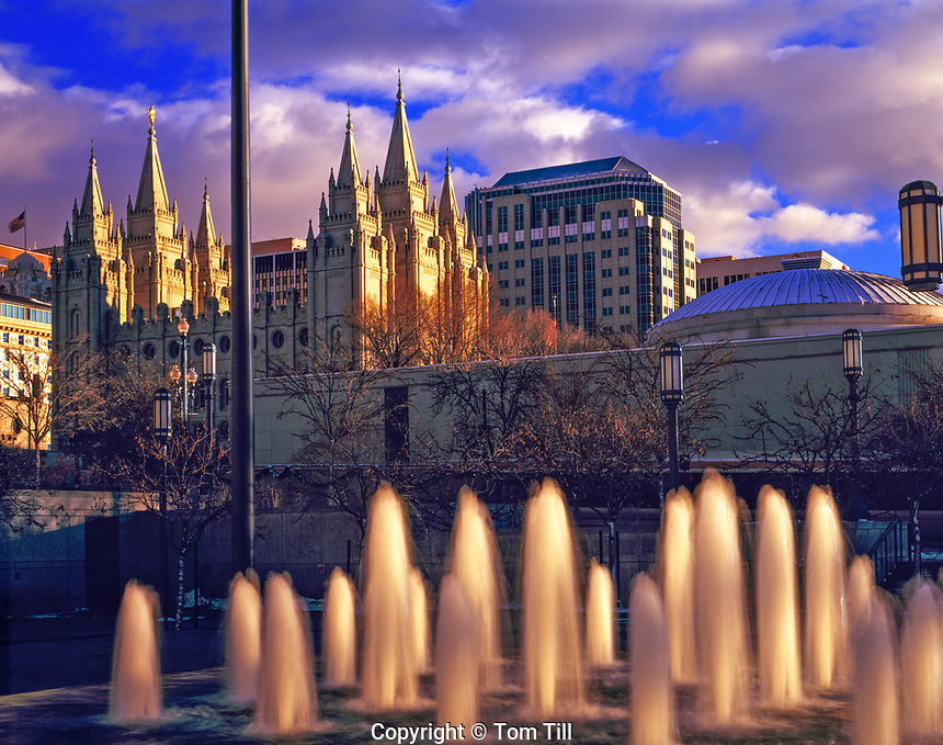 Mormon (LDS) Temple, Salt Lake City, Utah  Church of Jesus Christ of Latter Day Saints main temple      March, 2011