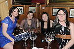 Jennifer Devitt, Naomi Smith, Gin Cheng McGivern and Sam Murphy enjoying the new year celebrations at Scholar's. Photo: Colin Bell/pressphotos.ie