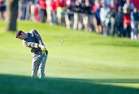 Rory McIlroy (Team Europe) on the 6th during the Saturday morning Foursomes at the Ryder Cup, Hazeltine national Golf Club, Chaska, Minnesota, USA.  01/10/2016<br /> Picture: Golffile | Fran Caffrey<br /> <br /> <br /> All photo usage must carry mandatory copyright credit (&copy; Golffile | Fran Caffrey)