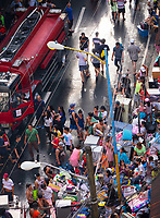 Large street fire in the Mandaluyong Area, Manila Street scene after the fire