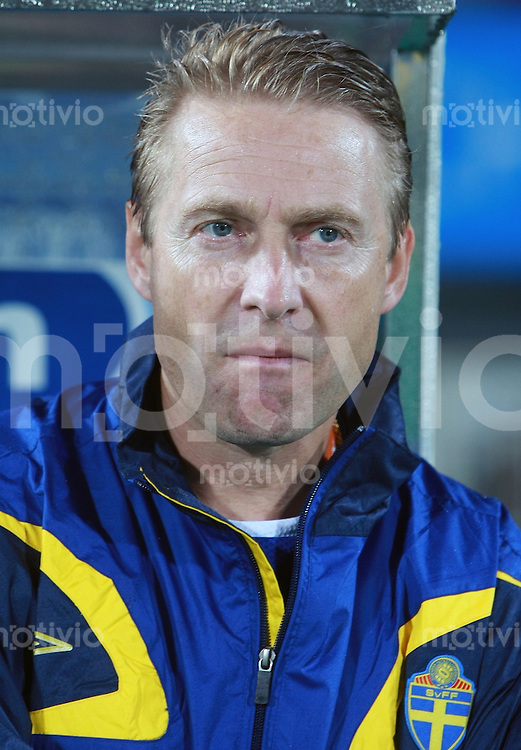 Fussball Frauen Weltmeisterschaft China 2007 , ,  Gruppe B , Nigeria - Schweden  Trainer Thomas DENNERBY (SWE)